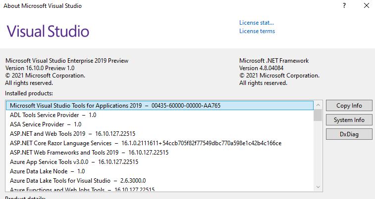 Visual Studio Version - Problem Machine