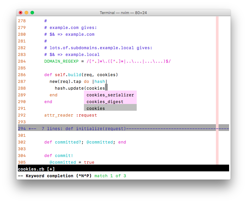 Comments and line numbers in Vim's default color scheme