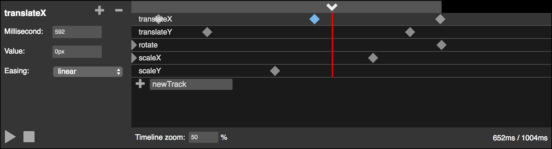 rekapi-timeline screenshot