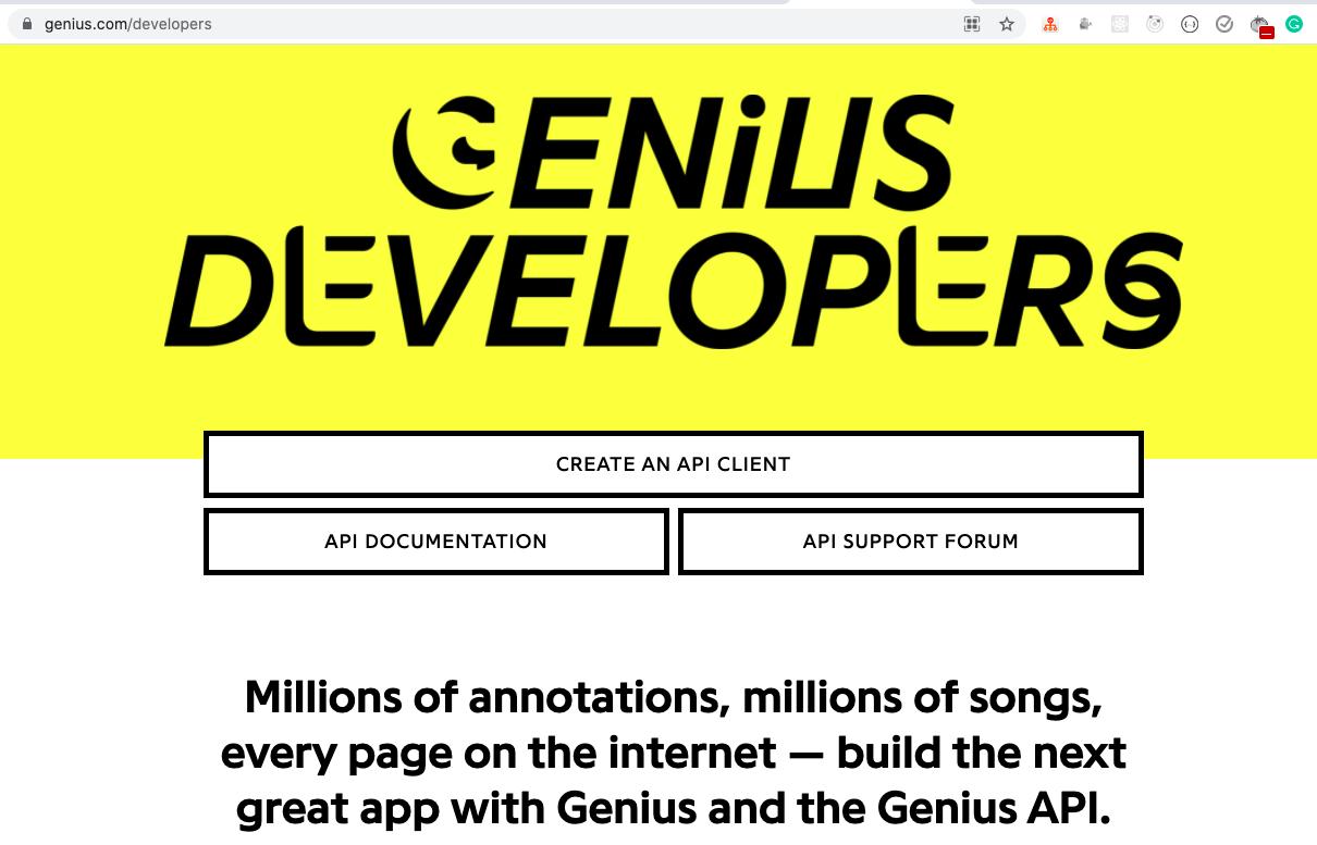 Genius API