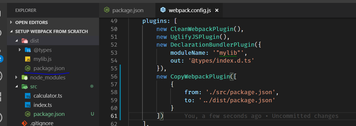 adding package.json in dist folder image