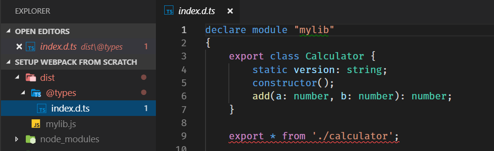 DIST with mylib and types image