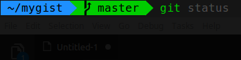 terminal view of completed tutorial setup