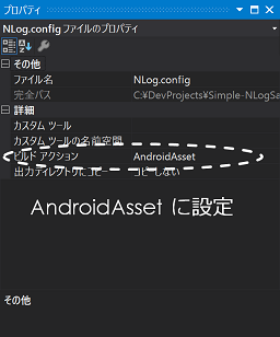 AndroidAsset に設定